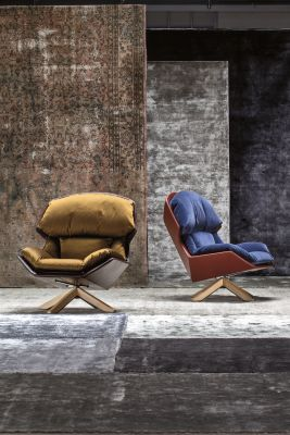 Clarissa Armchair B0211 - Leather Oil cirè, Natural Oiled Oak