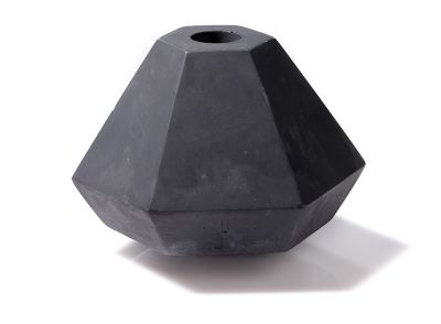 Concrete Candle Holder Black, Short