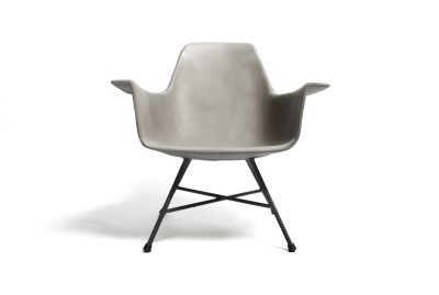 Concrete Hauteville Armchair Low