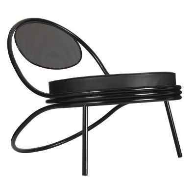 Copacabana Lounge Chair Leather Silk SIL0197 Cream