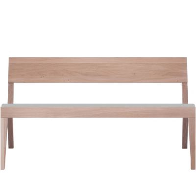 Cubo Bench With Upholstered Seat Oak, Light Grey