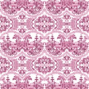 Delft Baroque Wallpaper Pink - Delft Baroque Wallpaper