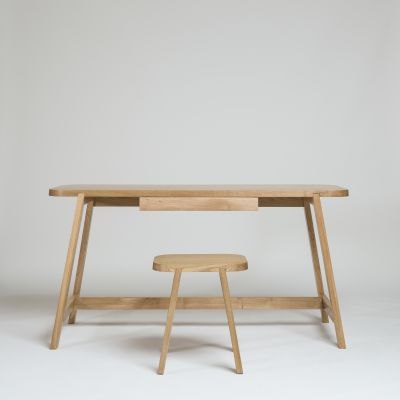 Desk Three Oak