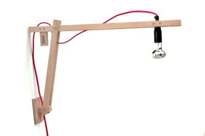 DIY Wall Light red twisted-UK Plug