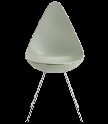 Drop Plastic Chair Plastic Stone Grey, Chrome