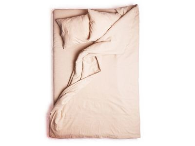 Dusty rose linen duvet cover Single 140x200cm