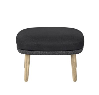 Ro Easy Foot Stool With Wooden Legs - Designer Selection Black