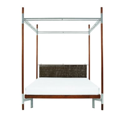 Edward II – Double Canopy  Bed White