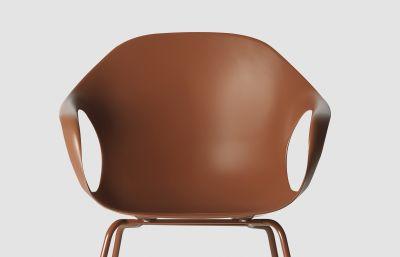 Elephant Four Legs Armchair - Polyurethane Seat Lacquered steel, White polyurethane