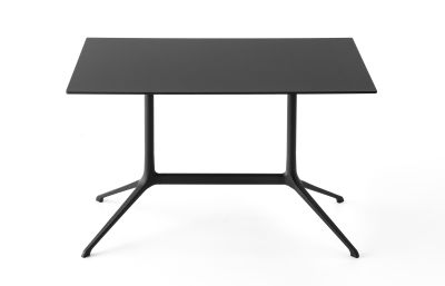 Elephant Occasional Rectangular Table - Fixed Top White, Black, 100 x 59