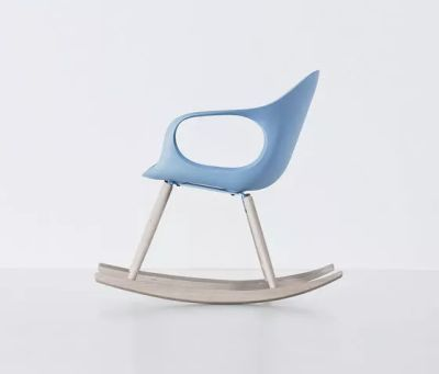 Elephant Rocking Chair - Polyurethane Seat Beech, White polyurethane