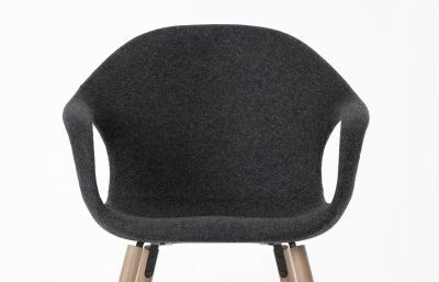 Elephant Rocking Chair - Upholstered Seat Beech, Cuoietto 500