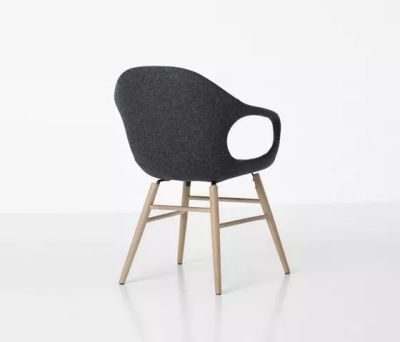 Elephant Wooden Base Armchair - Upholstered Seat Beech, Cuoietto 500