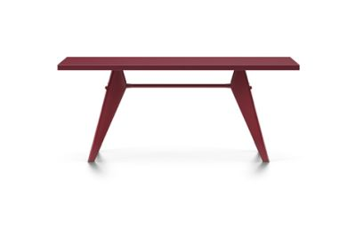 EM Table (HPL) 74 x 90 x 180 cm, 06 HPL Japanese red, 06 japanese red powder-coated