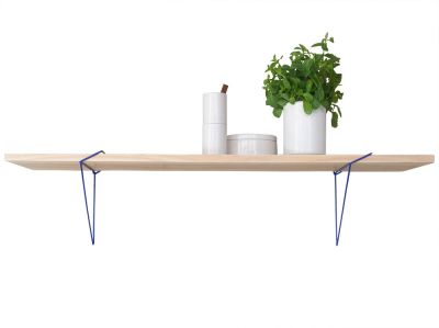 Equerres — Set of 2 Shelf Brackets  Navy Blue
