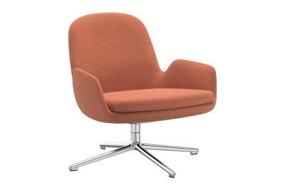 Era Lounge Low Chair Swivel Sørensen Ultra Leather Black Brown - 41590, NC Black Aluminium
