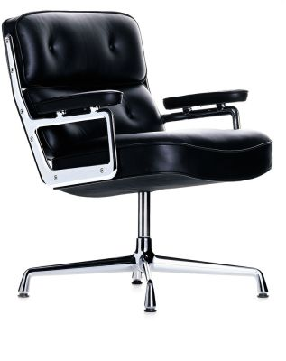 ES 108 Lobby Chair - Swivel, With Armrests 05 felt glides for hard floor, Leather Premium 72 snow