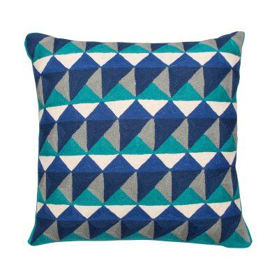 Escher Cushion Emerald & Navy