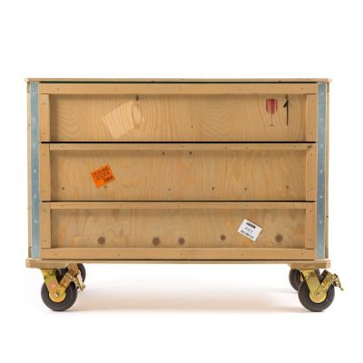 Export Comò 3 Drawers Wooden Chest Wheels