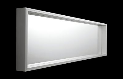 Extra Large Wall mounted Anodised aluminium, 50 x 185 x 10