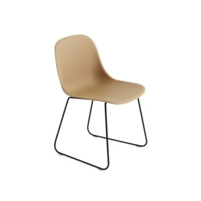 Fiber Side Chair Sled Base Ochre / Black