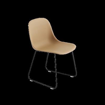 Fiber Side Chair Sled Base Ochre / Black