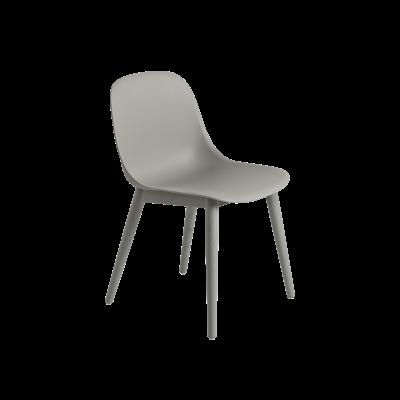 Fiber Side Chair Wood Base Grey/Grey
