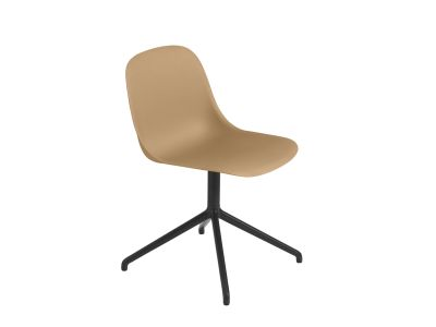Fiber Side Swivel Chair Without Return - Non Upholstered Ochre / Black