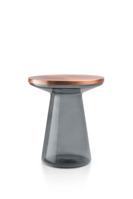 Figure Side Table Gray & Copper