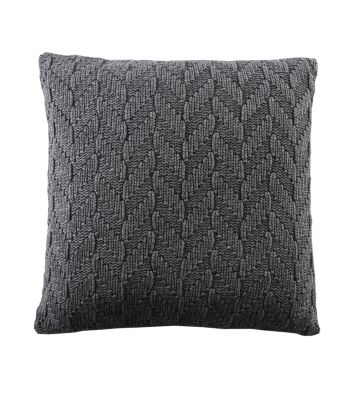 Fishbone Cushion Dark Grey