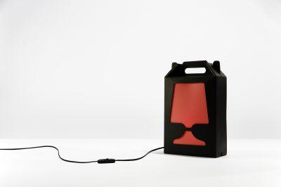 Flamp Noir Table Lamp Transparent