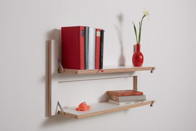 flpps 2 shelves white
