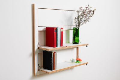 flpps 3 shelves white
