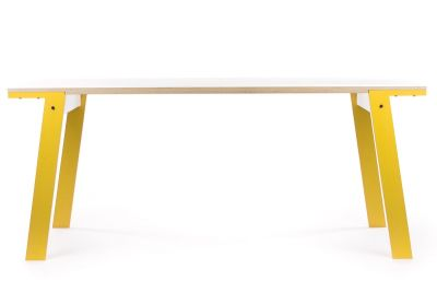 Flat Dining Table Canary Yellow, Small