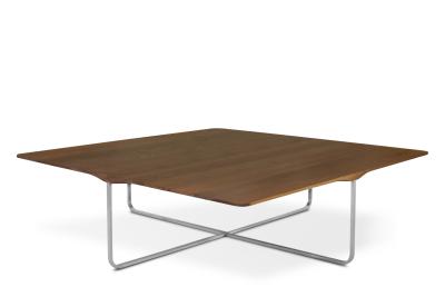 Flint Square Coffee Table Matt Lacquered Walnut, Large