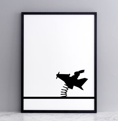 Flying Rabbit Screen Print Small