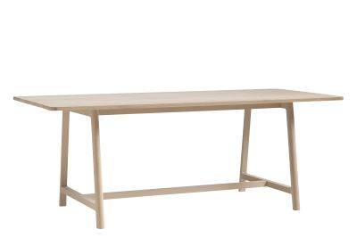 Frame Dining Table Matt Lacquered Oak, Large