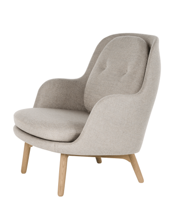 Fri Easy Chair with Wooden Base Balder 3 982