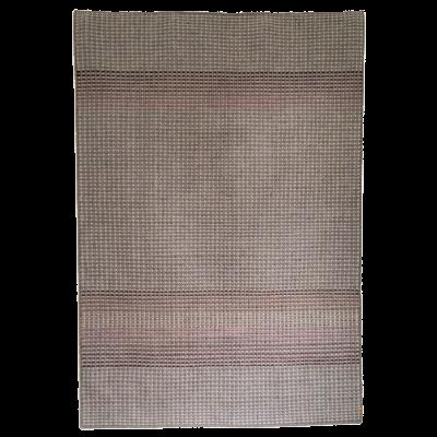 GARBOR - plum & rust hand woven rug 200 x 300cm