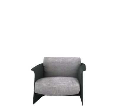 Garconne 2 Armchair Churchill - Antracite, Cairo - Bianco 01