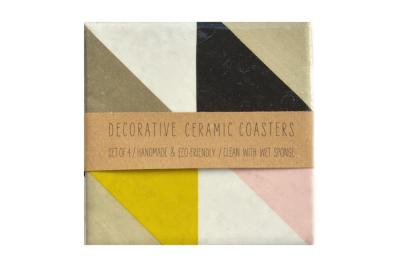Geometric Tile Coasters