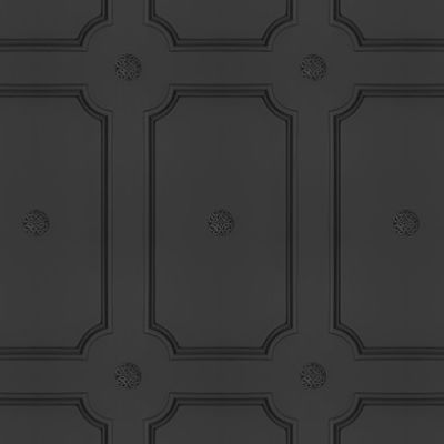 Georgian Dot Panelling Wallpaper SAMPLE - Charcoal Georgian Dot Panelling Wallpaper
