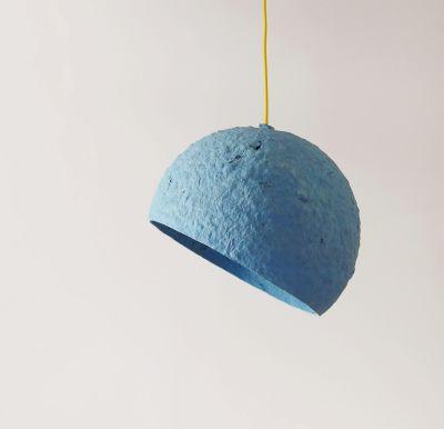Globe Blue paper pulp lamp Globe Blue