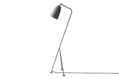 Grasshopper Floor Lamp Gubi Metal Blue Grey