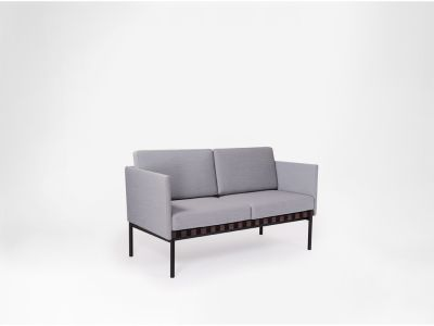 Grid - 2 Seater Sofa With Armrests Coda 2 100, Oak