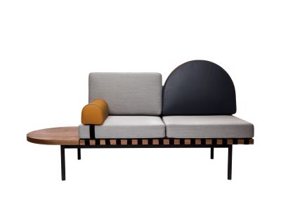 Grid Daybed Coda 2 100, Plot, Plot, Walnut