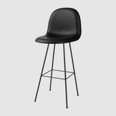 Gubi 3D Bar Chair Center Base - Fully Upholstered Dunes 21000 Cognac