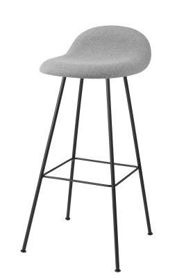 Gubi 3D Bar Stool Center Base - Fully Upholstered Dunes 21000 Cognac