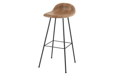 Gubi 3D Bar Stool Center Base - Unupholstered Gubi Wood American Walnut