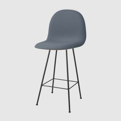 Gubi 3D Chair Center Base - Front Upholstered Dunes 21000 Cognac, Gubi Wood American Walnut